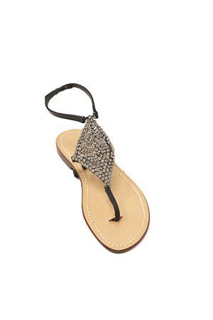 Black jewel Capri sandals high at the ankle Da Costanzo | 5032256 | ROMBOSMALLNERO