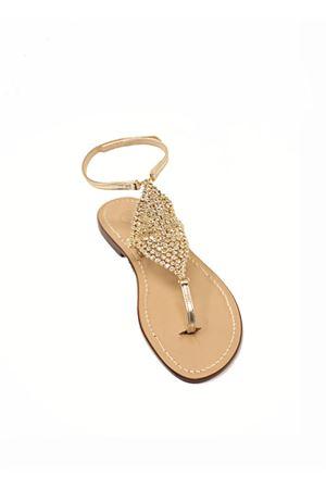 Golden jewel Capri sandals  Da Costanzo | 5032256 | ROMBOSMALLORO
