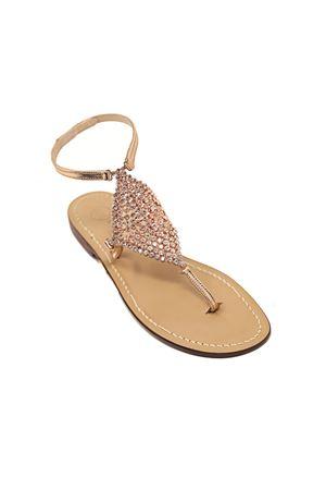 Sandali gioiello rosati alti alla caviglia Da Costanzo | 5032256 | ROMBOSMALLROSA