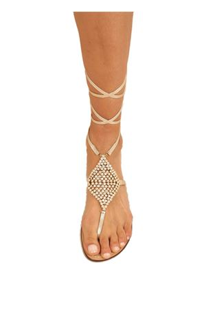Platinum jewel capri sandals  Da Costanzo | 5032256 | ROMBOSMALLSCHIAVAORO