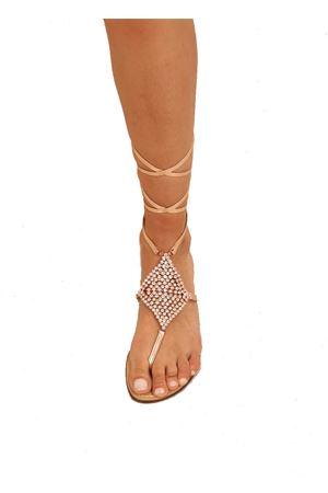 sandali gioiello alla schiava rosati Da Costanzo | 5032256 | ROMBOSMALLSCHIAVAROSA