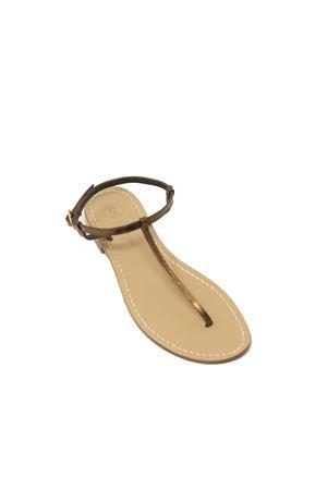 Sandali infradito in pelle bronzo Da Costanzo | 5032256 | S1918BRONZE
