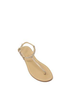 sandali capresi color champagne Da Costanzo | 5032256 | S1918CHAMPAGNE