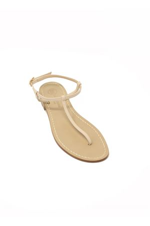Sandali capresi infradito semplice avorio Da Costanzo | 5032256 | S1918IVORY