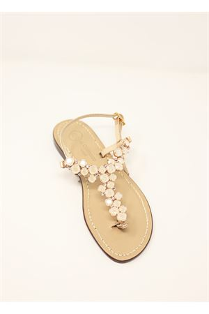 Ivory jewel Capri sandals  Da Costanzo | 5032256 | S3099AVORIO