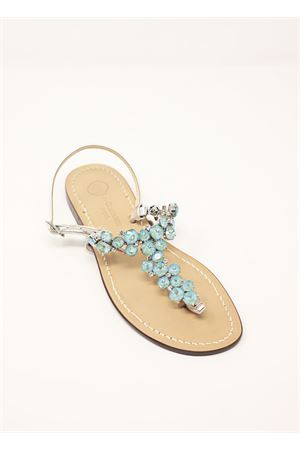 Light blue jewel sandals  Da Costanzo | 5032256 | S3099AZZURRO