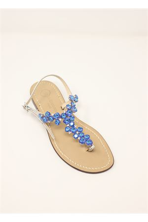 Blue jewel Capri sandals  Da Costanzo | 5032256 | S3099BLU
