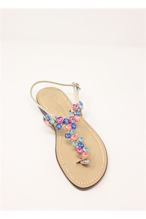 Multicolored jewel Capri sandals  Da Costanzo | 5032256 | S3099MULTICOLORE