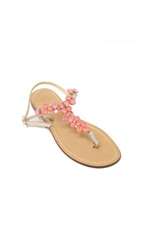 Pink jewel capri sandals from da Costanzo shop  Da Costanzo | 5032256 | S3099PESCA