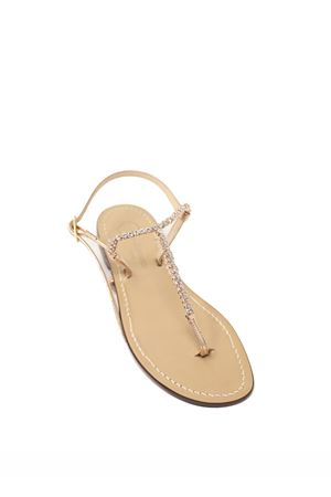 Rosy gold jewel Capri sandals  Da Costanzo | 5032256 | S4349ROSATO