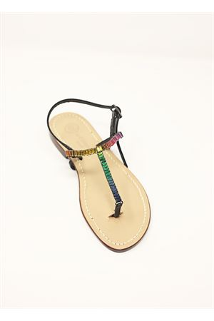 Flat jewel sandals  Da Costanzo | 5032256 | S4353NERO