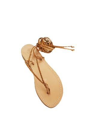 Bronze slave capri sandals Da Costanzo | 5032256 | SCHIAVATRECCINEBRONZO