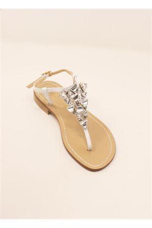Sandali capresi con gioiello in cristallo bianco Da Costanzo | 5032256 | TRIANGOLOCRTYSTALBIANCO