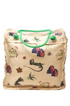Eco Capri beach bag tote with Lizards  Eco Capri | 31 | BBTLZRPTLIZARD