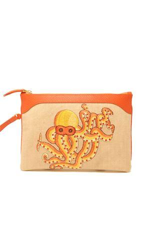 Embroidered pochette with octopus  Eco Capri | 31 | EMBOTOORNGPOLIPO
