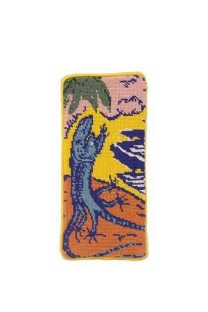 Needlepoint sunglasses case with dancing Lizards  Eco Capri | 20000058 | NEE416EYELIZARD