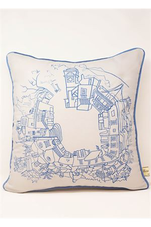 Piazzetta 360 Embroidered cushion Eco Capri | 5032252 | PL360CRBCERIOBLU