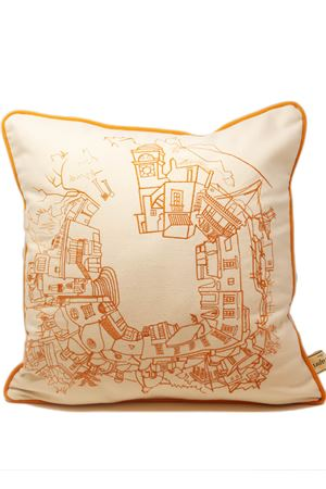 Orange Capri square cushion Eco Capri | 5032252 | PL360RNARANCIO