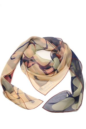Pure silk foulard with Faraglioni print  Eco Capri | -709280361 | SLKCHFRGBRFARAGLIONI