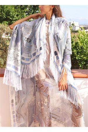 Pure silk shawl with Piazzetta di Capri print  Eco Capri | 1375490853 | SLKCHFRPZZAZZPIAZZETTA