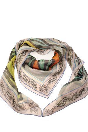 Silk chiffon foulard with Blue Lizards love story print  Eco Capri | -709280361 | SLKCHLZRBRLIZARDS
