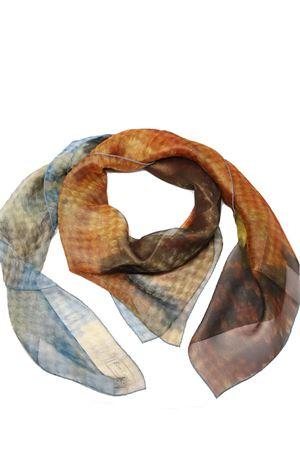 Vesuvius print silk foulard  Eco Capri | -709280361 | SLKCHVSVBRVESUVIO