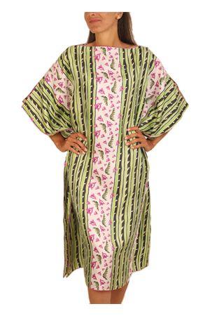 Silk caftan with bougainvillea Eco Capri | 20000033 | WBA1BGNVLBOUGANVILLAE