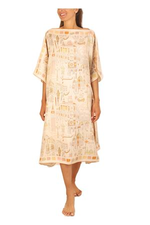 silk caftan with venezia print Eco Capri | 20000033 | WBAVNCVENICE