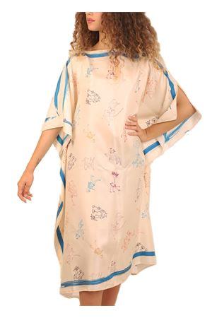 Silk Kaftan with Pizzini pattern  Eco Capri | 20000033 | WSLA1PZZNIPIAZZINIMULTI