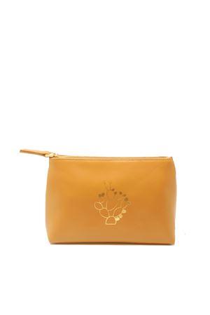 Caramel leather necessaire Eco Capri | 31 | ZCNCMLCACTUS