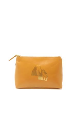 Caramel- colored leather necessaire Eco Capri | 31 | ZCNCMLFARAGLIONI