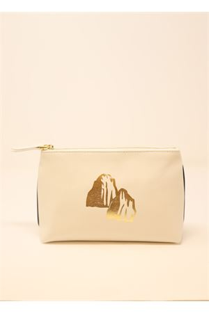 Necessaire in white leather Eco Capri | 31 | ZCNWHTFARAGLIONI