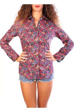 Camicia con fiori viola Ganesh | 6 | A7200WMIXFIORI