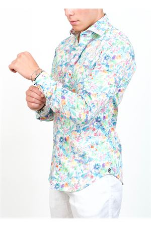 Floral shirt for men in pure cotton  Ganesh | 6 | G7000MFIORIMIXPASTELLO