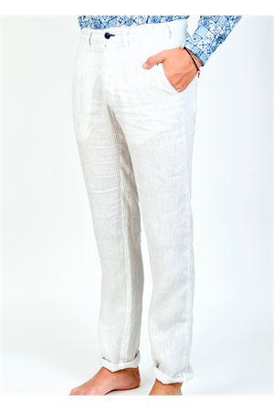 pantalone uomo in lino a riga Ganesh | 9 | GU164MRIGABIANCO