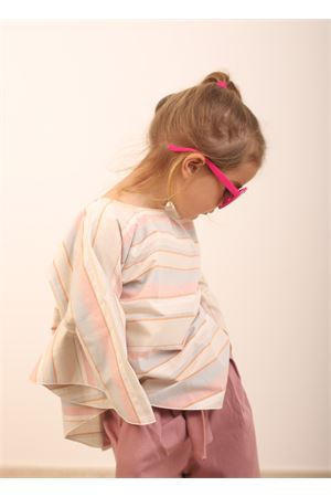 Cotton tunic for baby girl  Giro Quadro | 6 | GQ31MULTICOLOR