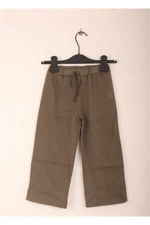 Military green linen trousers for children Giro Quadro | 9 | GQ46VERDE MILITARE