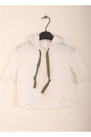 Camicia con cappuccio in lino per bambino Giro Quadro | 6 | GQ47BIANCO