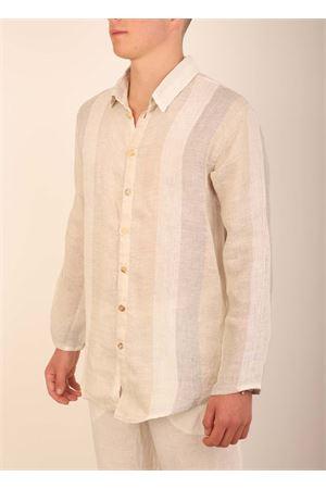 Casual linen shirt for Men  Grakko Fashion | 6 | CAMICIANEUTRARIGONIBEIGE