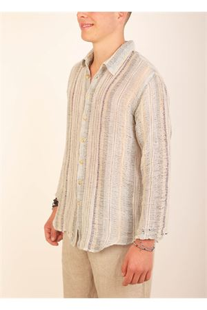 Pure linen shirt for men with striped pattern Grakko Fashion | 6 | CAMICIARIGAARCOBALENO