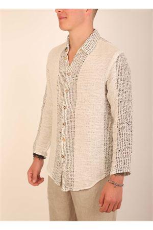 Linen striped shirt for man  Grakko Fashion | 6 | CAMICIARIGARIGANERA