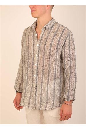 Pure linen tailored shirt for Men Grakko Fashion | 6 | CAMICIARIGATRAFORATAGRIGIO