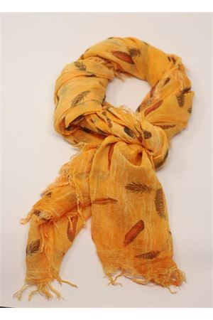 Micromodal scarf with feathers  Grakko Fashion | 77 | MICROMODALSCARFARANCIONE