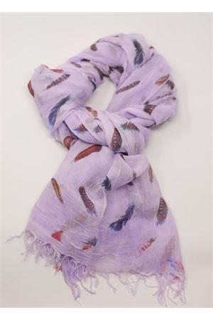 sciarpa in micromodal con piume Grakko Fashion | 77 | MICROMODALSCARFLILLA