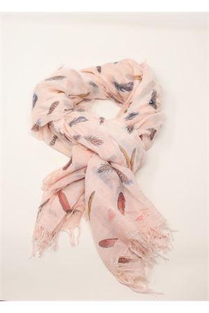 sciarpa in micromodal con piume rosa chiaro Grakko Fashion | 77 | MICROMODALSCARFROSACHIARO