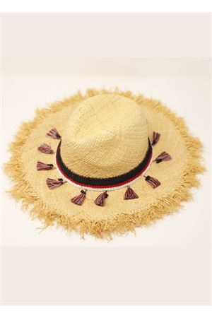 Round straw hat with tassels  Grakko Fashion | 26 | RAFIAENAPPERAFIA
