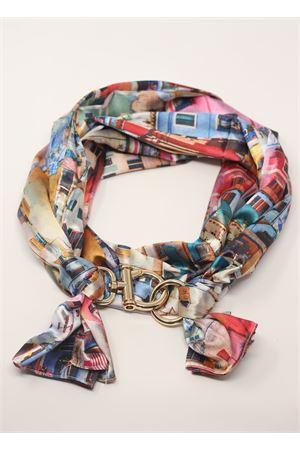 Foulard with landscape print  Grakko Fashion | -709280361 | SCIARPAPAESAGGIOMULTICOLOR