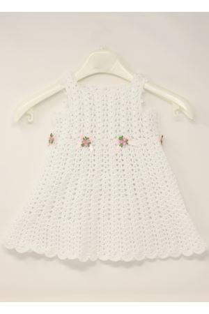 Crochet white dress for new born from 0 to 3 months La Bottega delle Idee | 5032262 | VESTITOUNCINETTOBIANCO