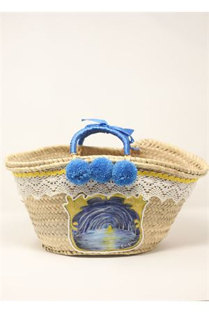 Hand painted straw bag with Blue Grotto  La Bottega delle Idee | 31 | BORSAGROTTAAZZURRO