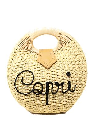 Borsa Capri in paglia La Bottega delle Idee | 31 | BORSATONDAPAGLIAROUNDBAG